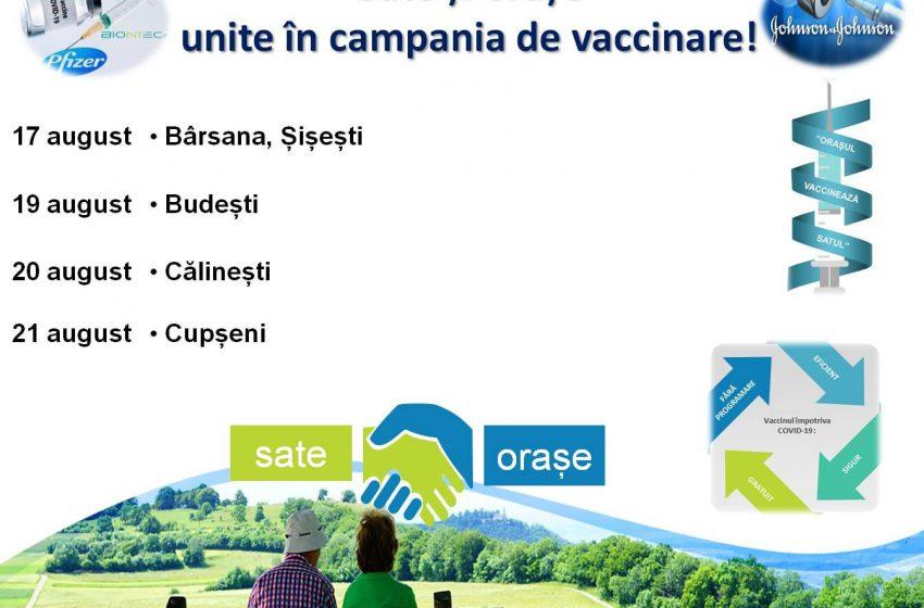 """Continuă în teritoriu Programul """"Orașul vaccinează Satul"""""""