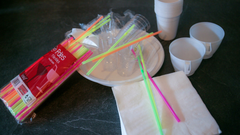 Guvernul adoptă miercuri ordonanța anti-plastic. Ce produse din plastic nu vor mai fi găsite în magazine