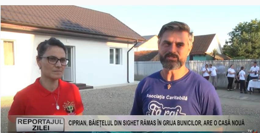 REPORTAJUL ZILEI | Ciprian, băiețelul din Sighet rămas în grija bunicilor, are o casă