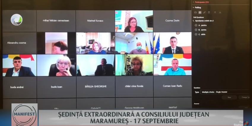 MANIFEST   ȘEDINȚĂ EXTRAORDINARĂ A CONSILIULUI JUDEȚEAN MARAMUREȘ – 17 SEPTEMBRIE