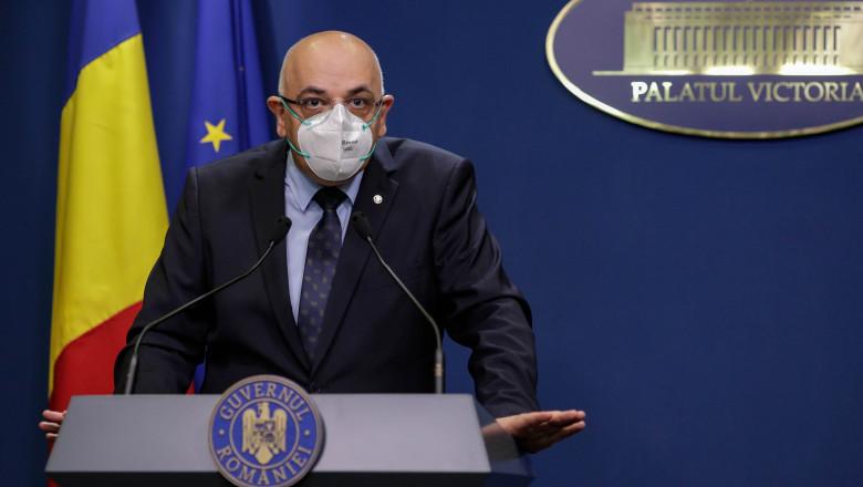 Raed Arafat anunță noi măsuri pentru gestionarea pandemiei: ambulanțe suplimentare, concedii suspendate, examen pentru rezidenți amânat